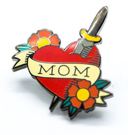 Pintrill Mom Tattoo Heart Pin