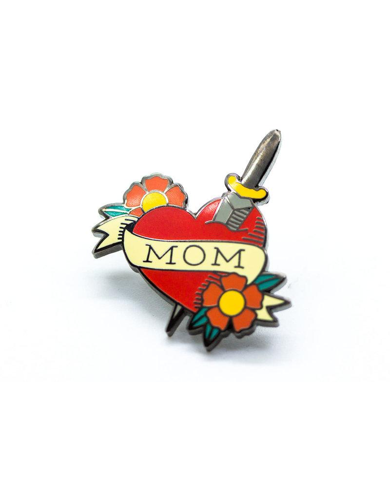 Pintrill Mom Tattoo Heart Pin