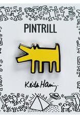 Pintrill Keith Haring - Barking Dog Pin - Yellow