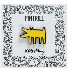 Pintrill Keith Haring - Barking Dog Pin - Yellow