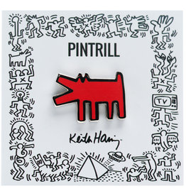 Pintrill Keith Haring - Barking Dog Pin - Red