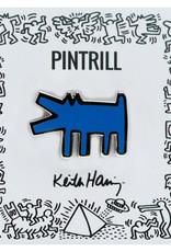Pintrill Keith Haring - Barking Dog Pin - Blue