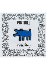 Pintrill Keith Haring - Barking Dog Pin - Blue