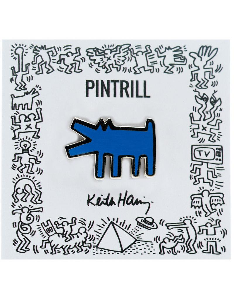 Keith Haring - Barking Dog Pin - Blue