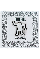 Pintrill Keith Haring - Dancing Man Pin - White