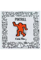 Pintrill Keith Haring - Dancing Man Pin - Orange