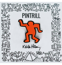 Pintrill Keith Haring - Dancing Man Pin - Orange