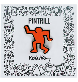 Keith Haring - Dancing Man Pin - Orange