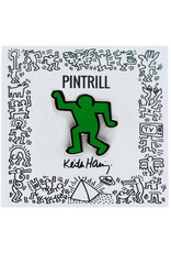 Keith Haring - Dancing Man Pin - Green