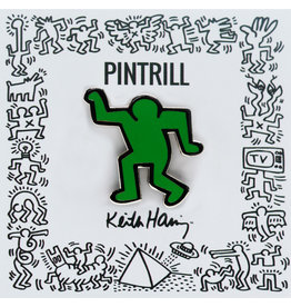 Pintrill Keith Haring - Dancing Man Pin - Green