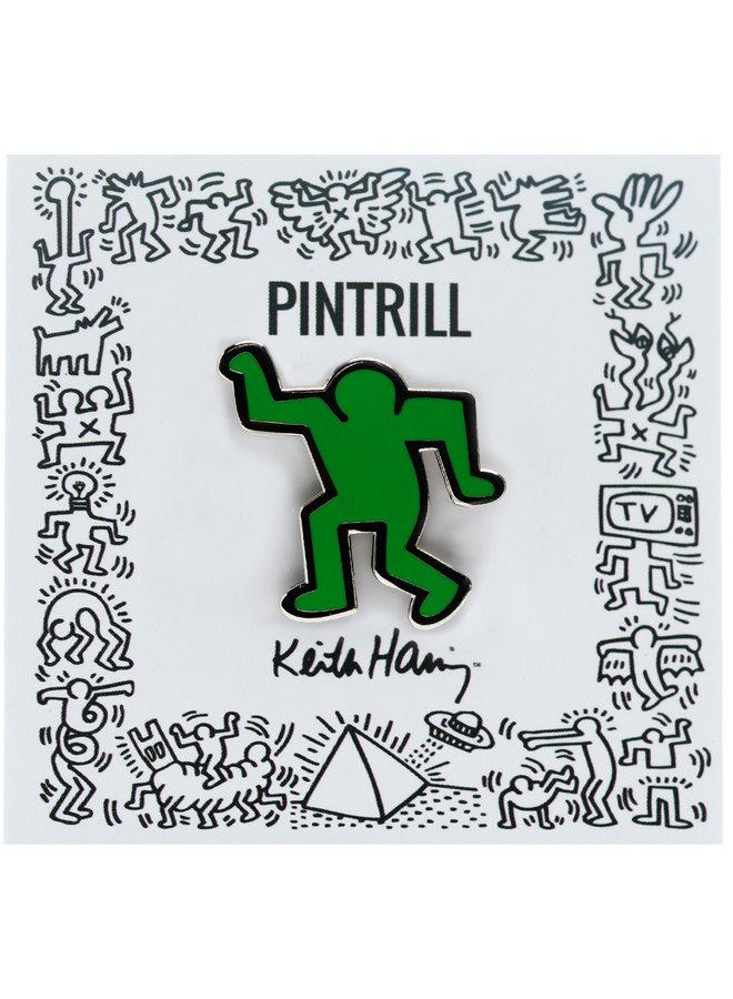 Keith Haring - Dancing Man Pin - Green