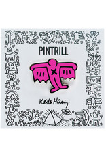 Pintrill Keith Haring - Bat Demon Pin - Pink