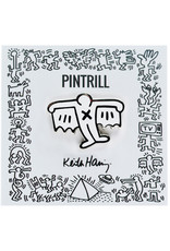 Pintrill Keith Haring - Bat Demon Pin - White