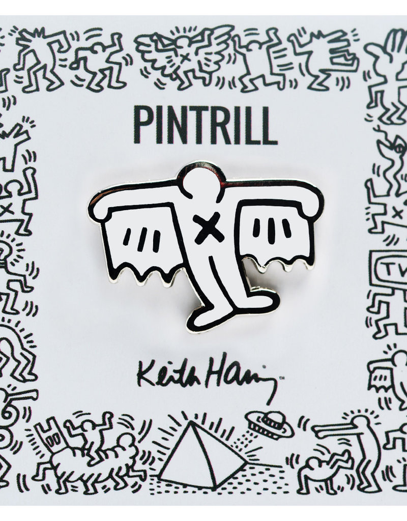 Pintrill Keith Haring - Bat Demon Pin - White
