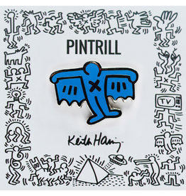 Pintrill Keith Haring - Bat Demon Pin - Blue