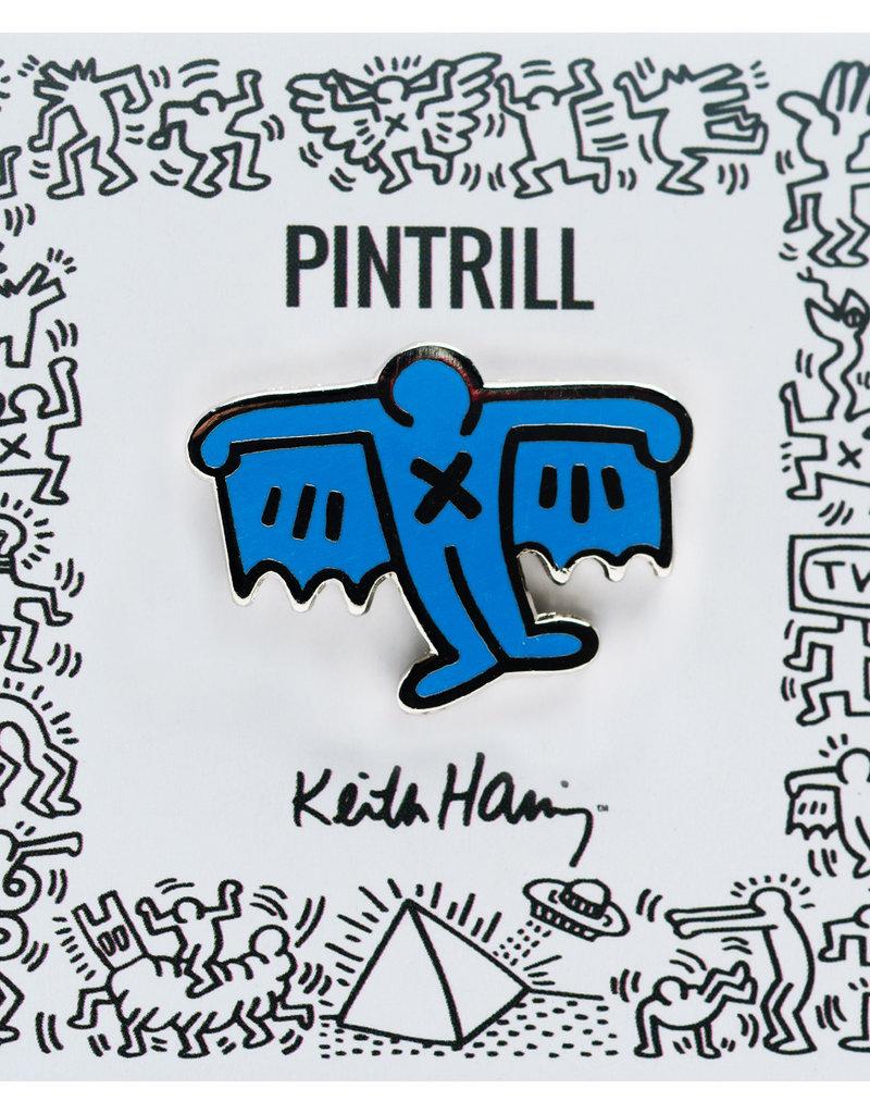 Pintrill Keith Haring - Bat Demon Pin - Blue