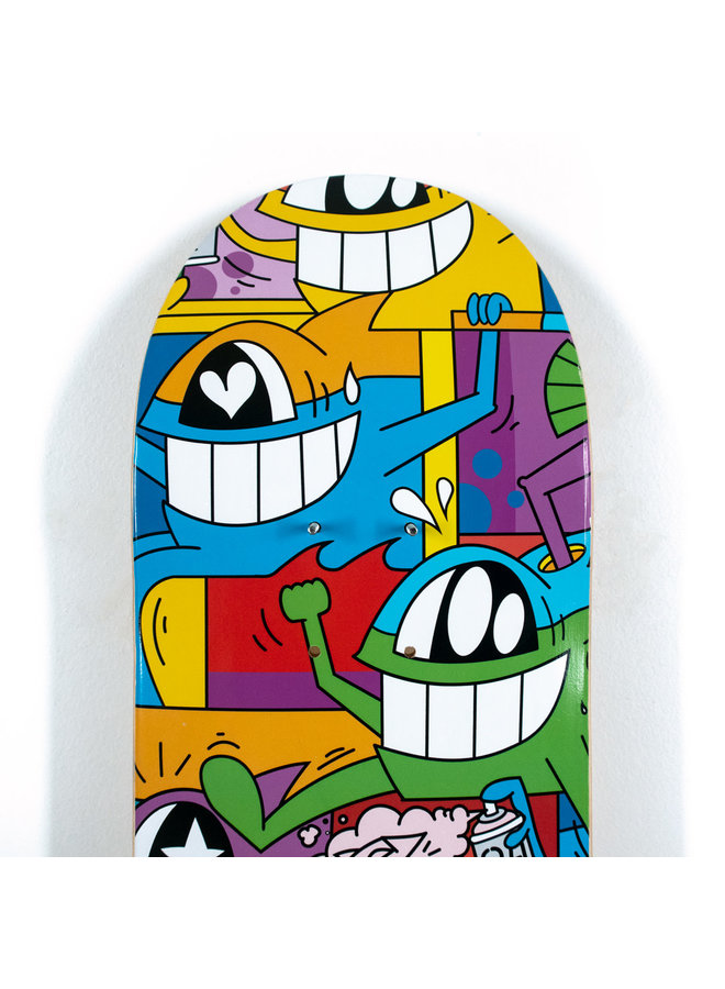 "Pez ""Don't Worry I'm Happy"" Skate Deck"