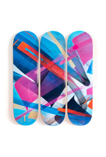 "MadC  ""Bluebird - 3-Deck Tryptic"" Skate Deck"