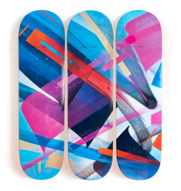 "MADC MadC  ""Bluebird - 3-Deck Tryptic"" Skate Deck"