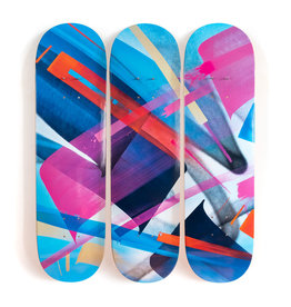"""MADC MadC  """"Bluebird - 3-Deck Tryptic"""" Skate Deck"""