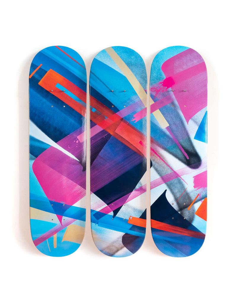 "MadC  ""Bluebird - 3-Deck Tryptic"" Skate Deck"