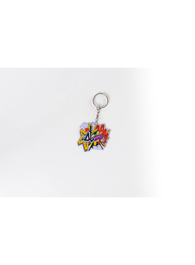 Crash Print Keychain