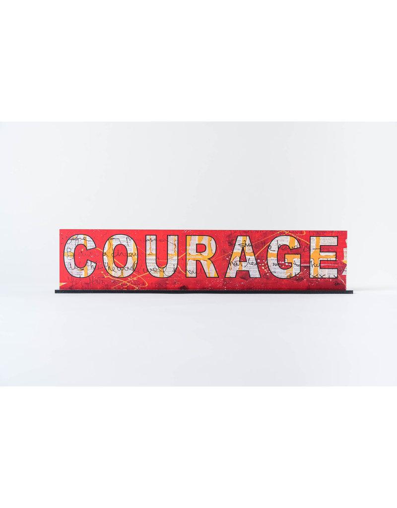 "Peter Tunney ""COURAGE"" Acrylic Billboard"