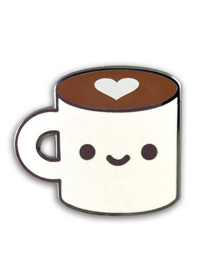 100% Soft Coffee Luv Pin