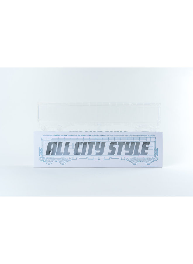 "All City Style Clear Ghost Train - Single 20"" half car model"