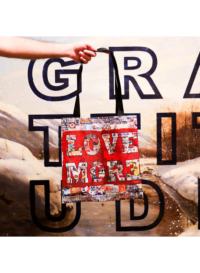 """Peter Tunney """"Fear Less, Love More"""" Tote"""