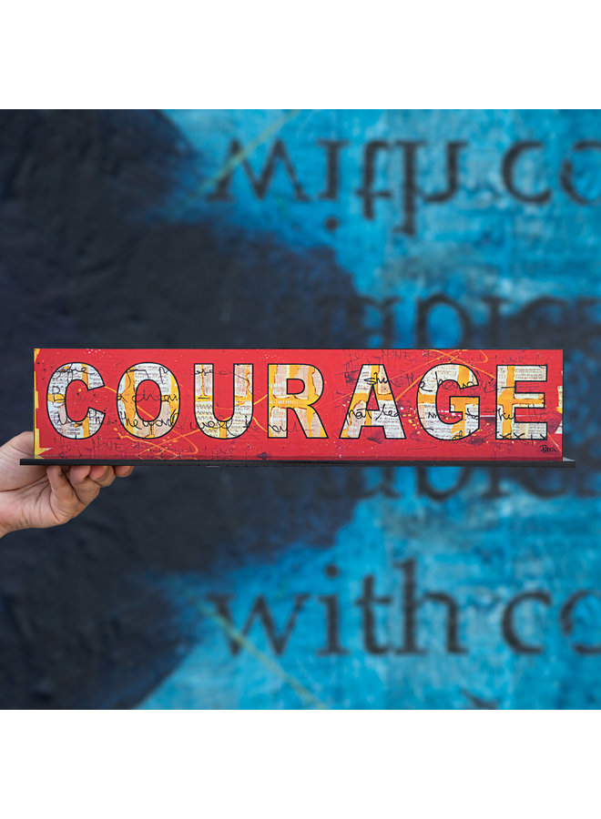 "Peter Tunney ""COURAGE"" Acrylic Billboard"