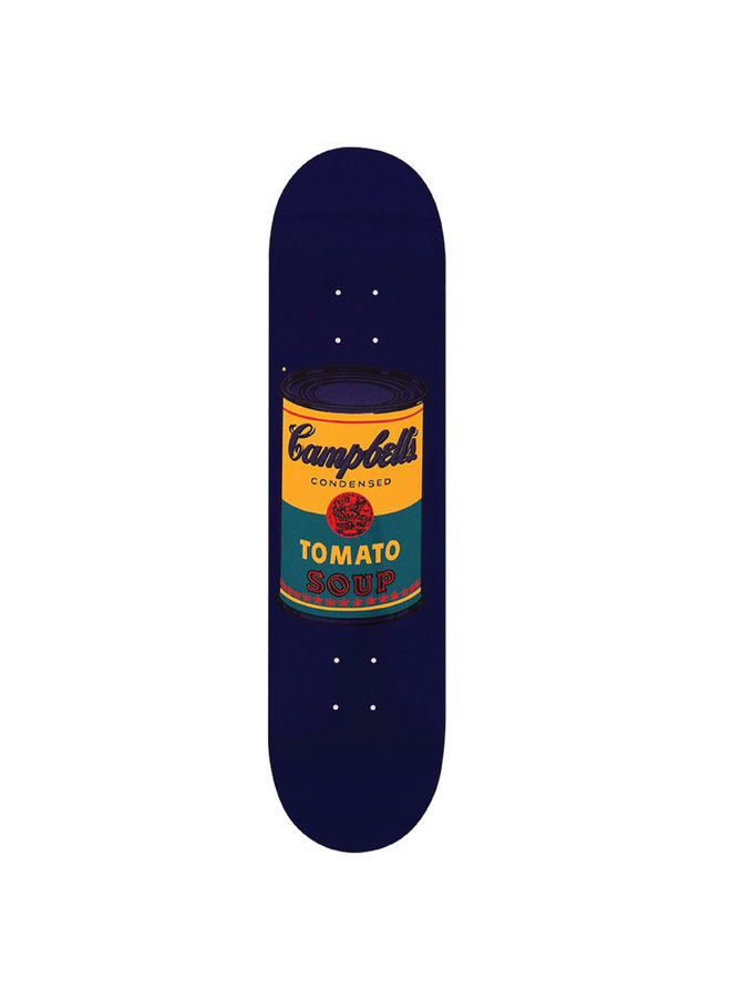 "Andy Warhol ""Teal Campbell's Soup"" Skate Deck"