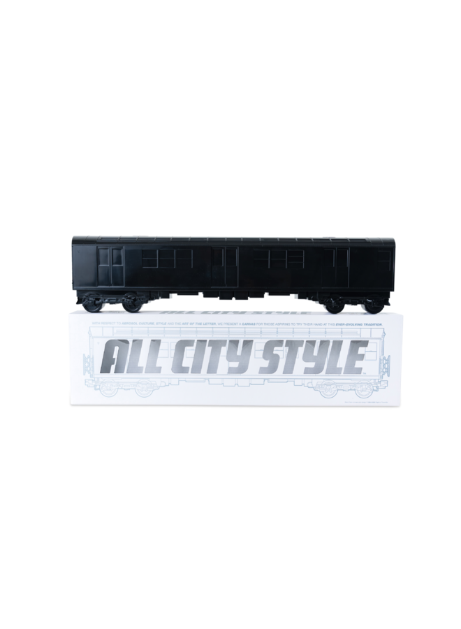 "All City Style Black Train - Single 20"" half car model"