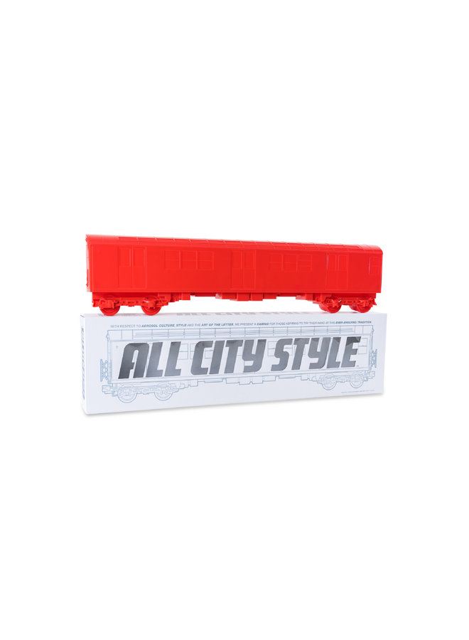 "All City Style Red Train - Single 20"" half car model"