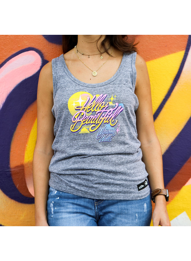 Queen Andrea x Wynwood Walls Ladies Tri-blend racer back tank