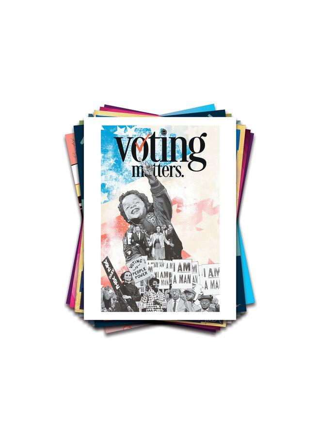 Mojo x When We All Vote Commemorative Poster