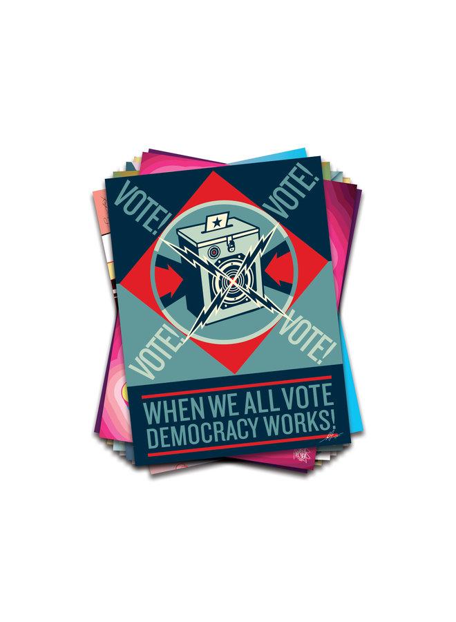 Shepard Fairey x When We All Vote Commemorative Poster