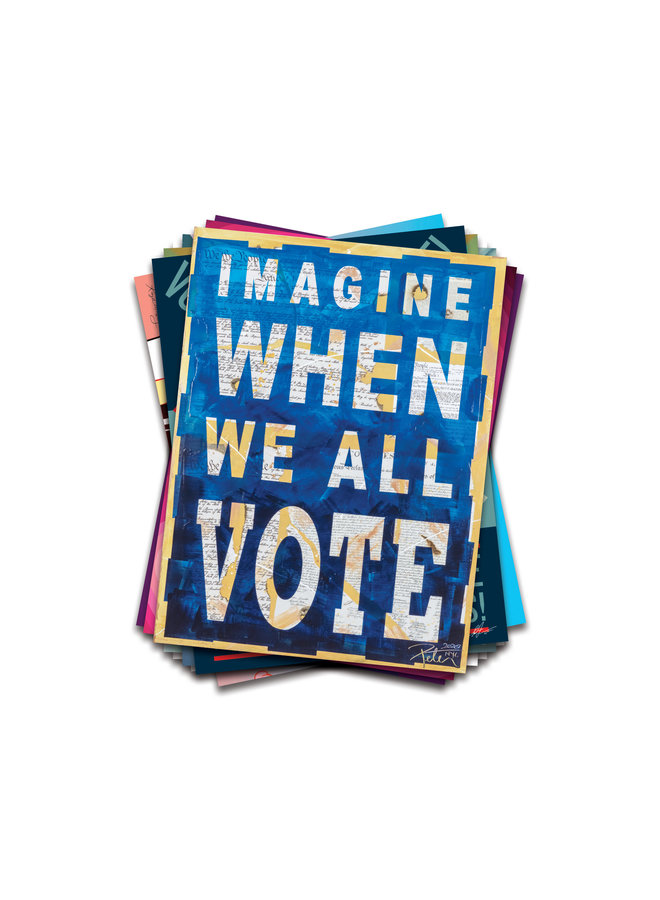 Peter Tunney x When We All Vote Commemorative Poster
