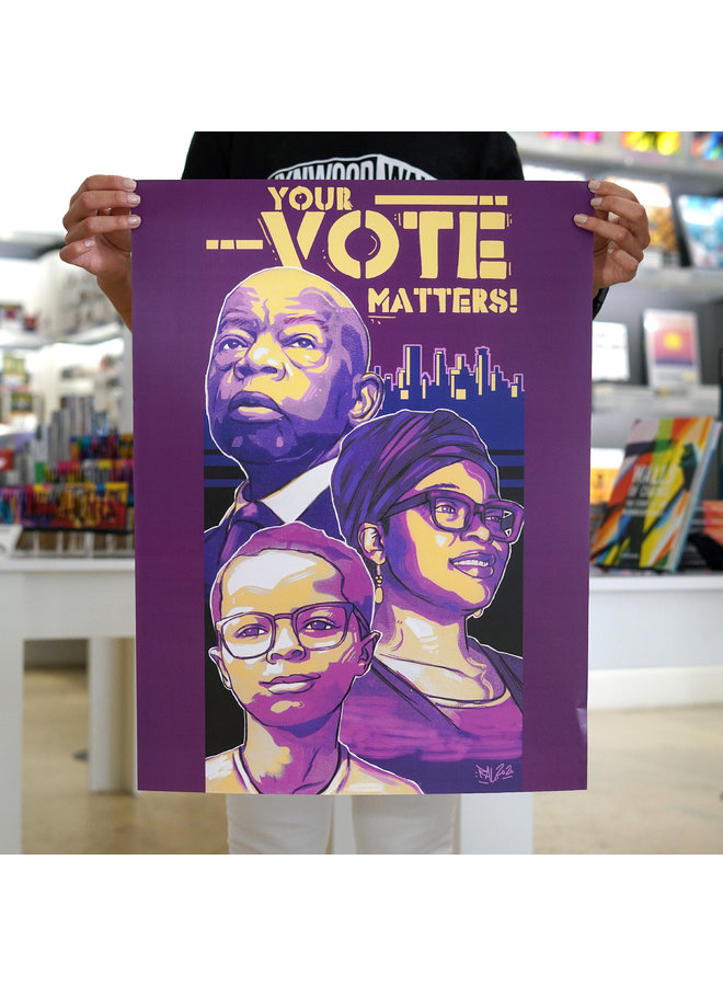 "Reggie ""RAL86"" Le Flore x When We All Vote Commemorative Poster"