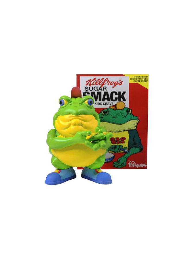 "Ron English ""Drug 'Em Killfrog"" - The Sugar Smack Bullfrog"