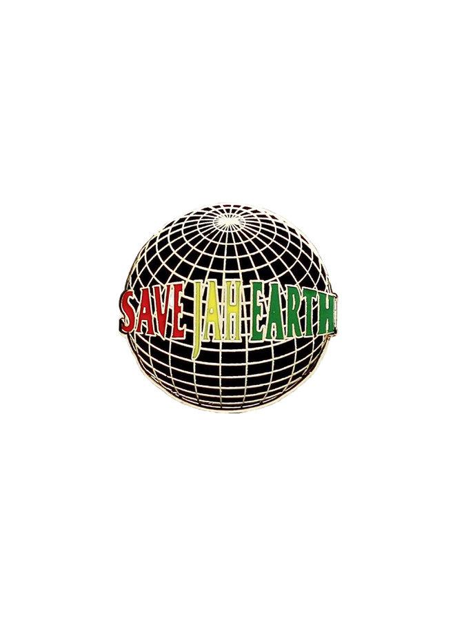 Save Jah Earth Pin