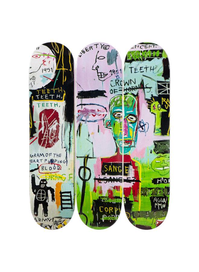 "Jean-Michel Basquiat ""In Italian"" Skate Deck"