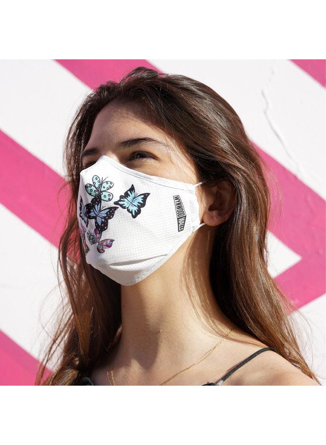 KELSEY MONTAGUE BUTTERFLIES  x Wynwood Walls ENRO Facemask