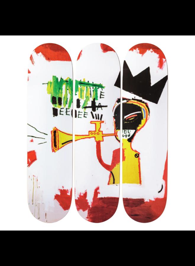 """Jean-Michel Basquiat """"Trumpet"""" Skate Deck"""