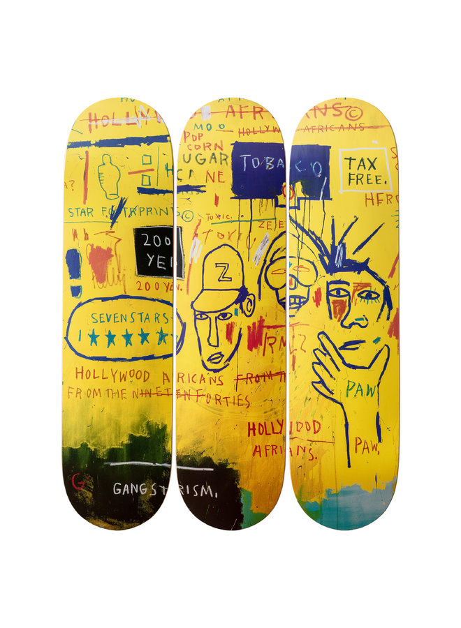 Jean-Michel Basquiat (Hollywood Africans ) Skate Deck