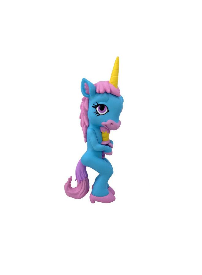 Ron English  Forlorn Unicorn Blue