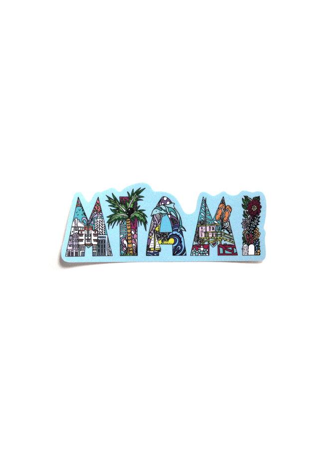 Kelsey Montague City Sticker Miami