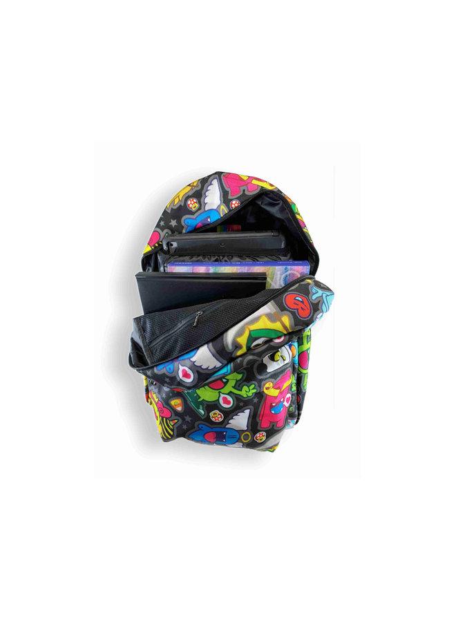 Backpack Black Pattern