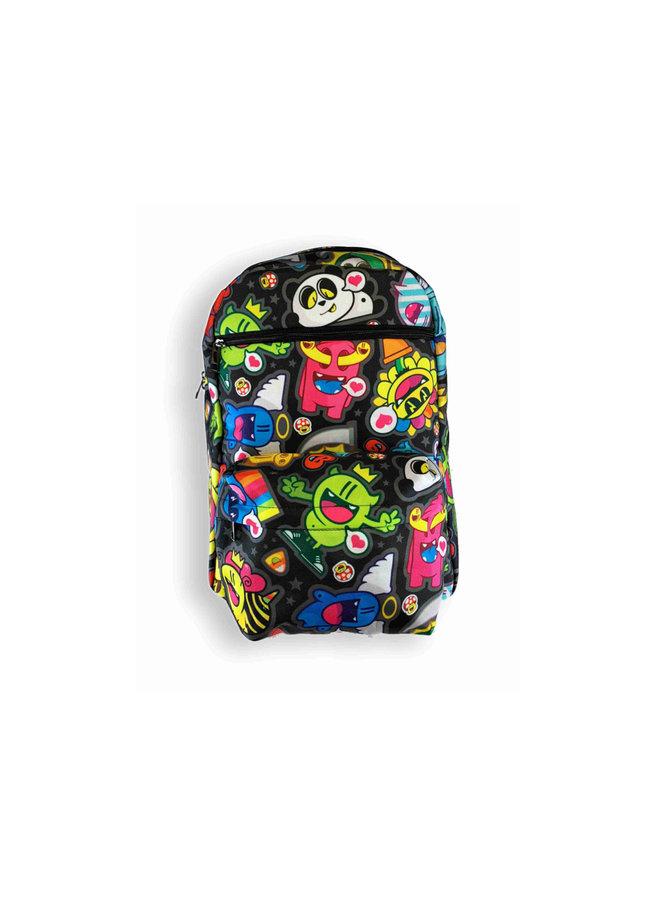 Golden305 Backpack Black Pattern