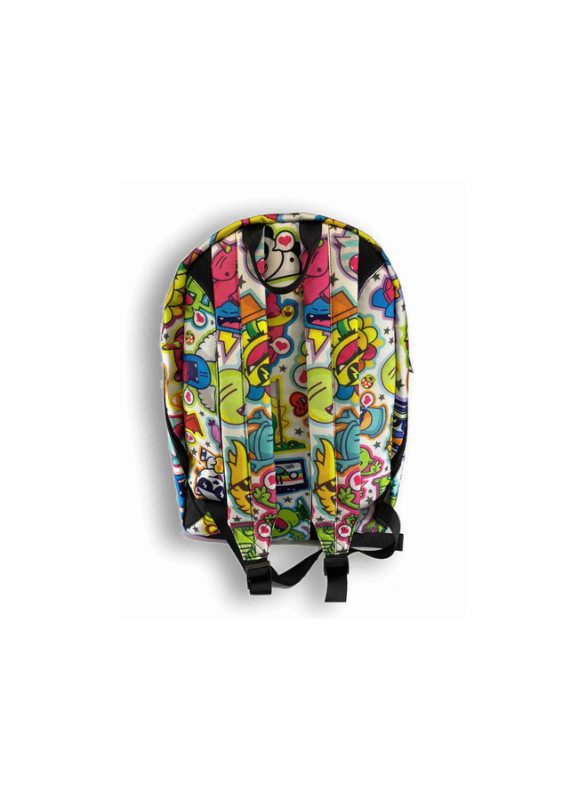 Backpack White Pattern
